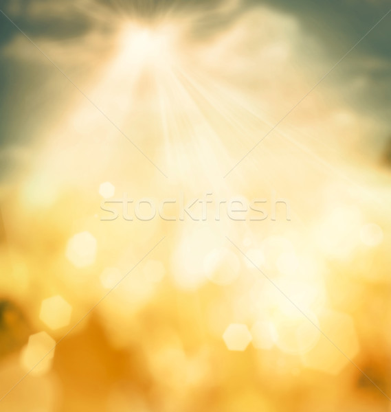 Foto stock: Spring bokeh background